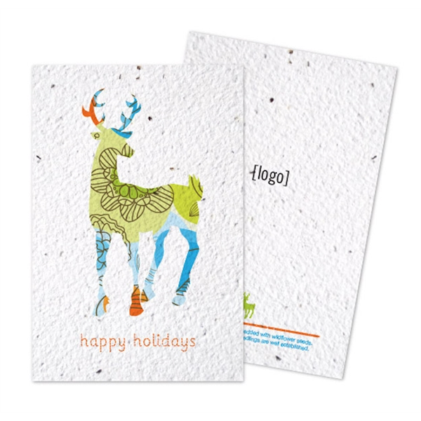 Holiday Seed Paper Postcard