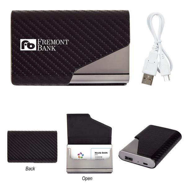 UL Listed 2-In-1 Zeus Power Bank With Card Holder