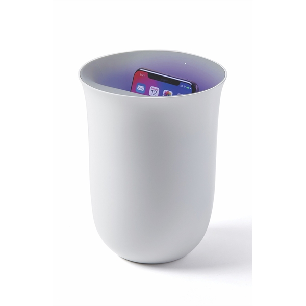 Lexon Oblio premium phone sanitizer & charger white