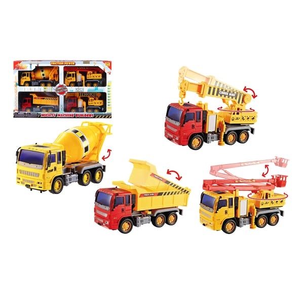 Mighty Machine Builders Friction Power Construction Play S