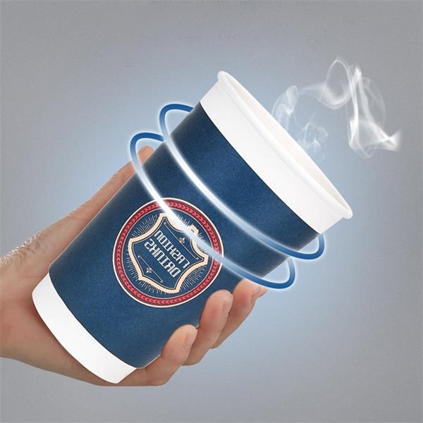 Double Wall Heat Insulation 8oz Coffee Cup