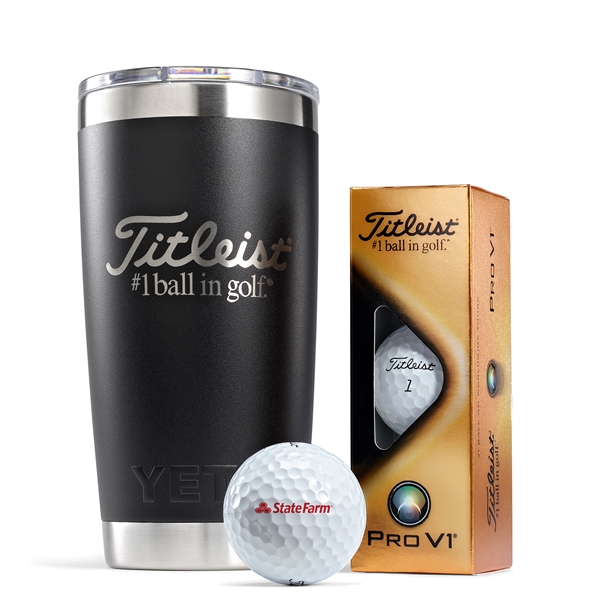 Titleist Yeti Tumbler Pro V1 Collection