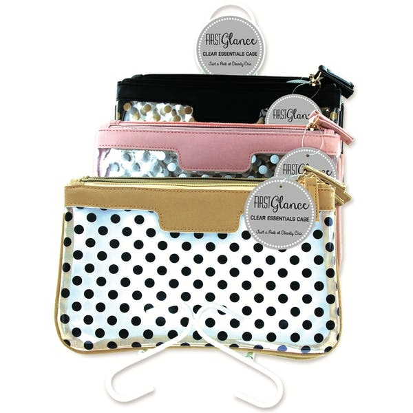 First Glance Clear Essentials Cosmetic Bag - Assorted Prin