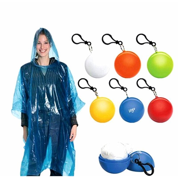 PE portable spherical raincoat