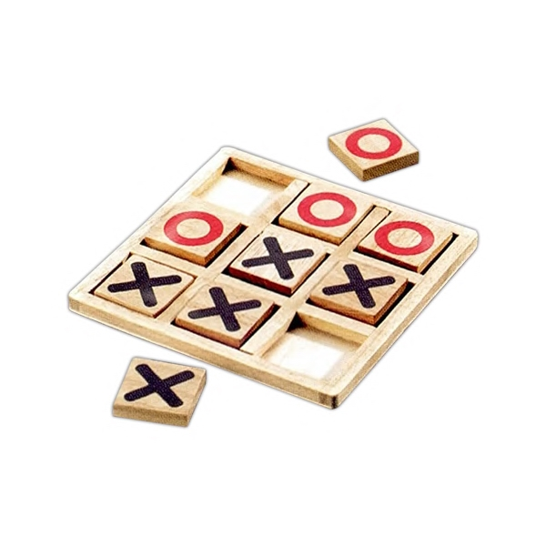 Tic-tac-toe, Wooden Game Photo