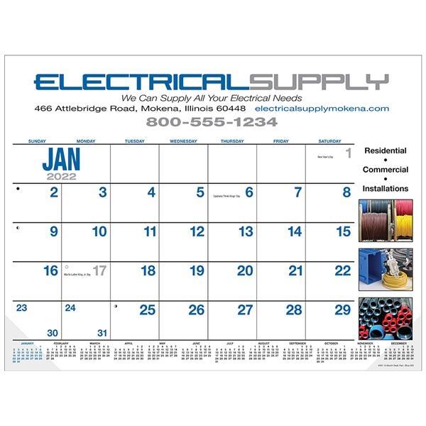 13-Month Desk Pad Calendar