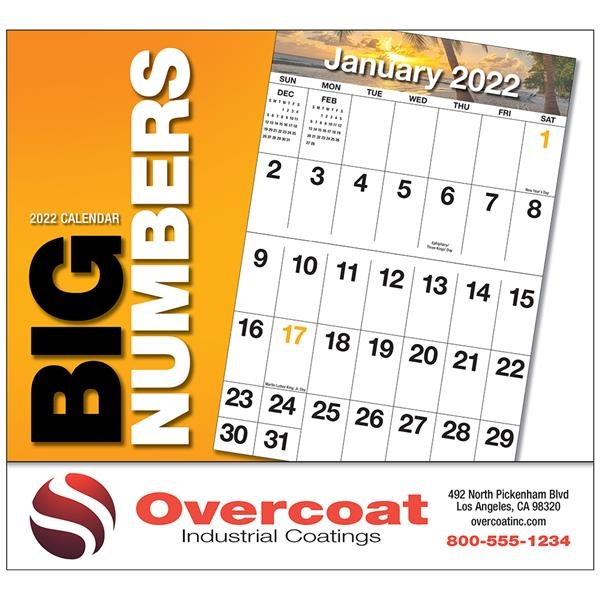Big Numbers Appointment calendar