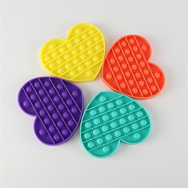 Heart shape Push Pop Bubble Fidget Sensory Toy