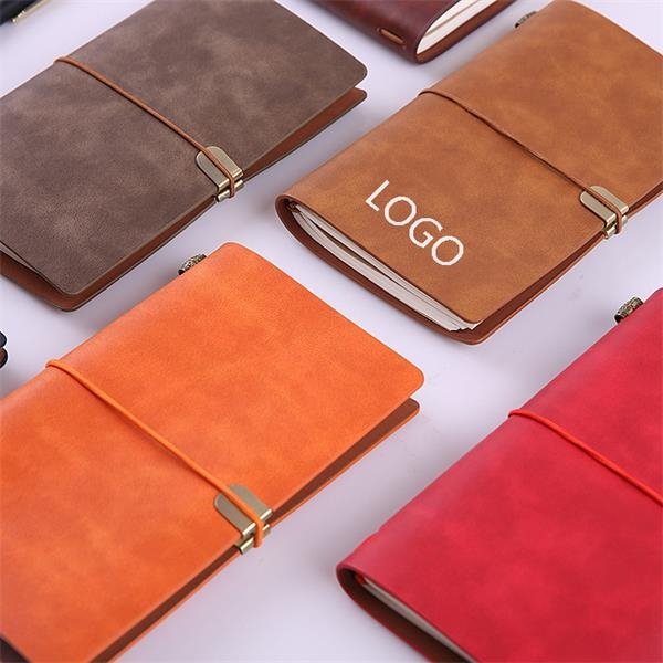 A6 Refillable Leather Diary Journal w/Pocket