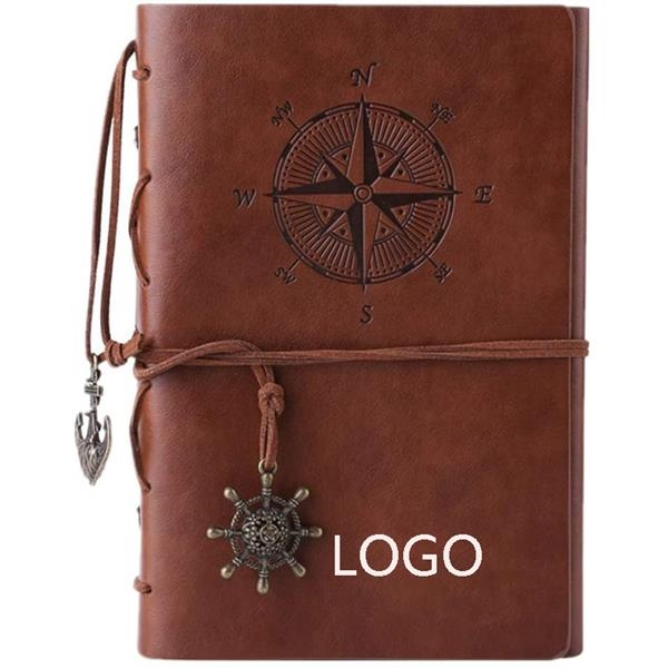 Vintage Leather Refillable Spiral Daily Notepad