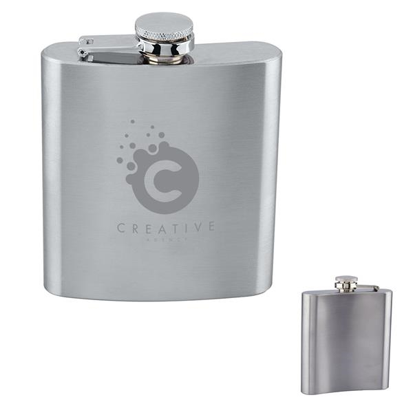 Durable 177 mL Stainless Steel Flask