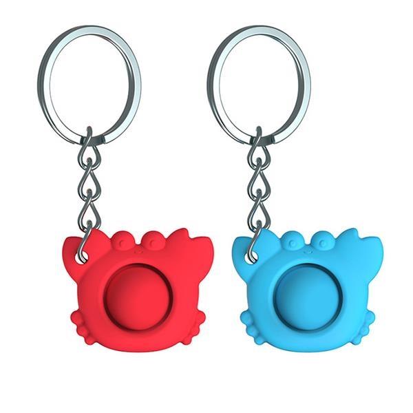 Crab Fidget Dimple Keychain