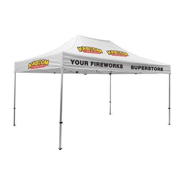15' Premium Tent Kit (Imprinted, 5 Locations)