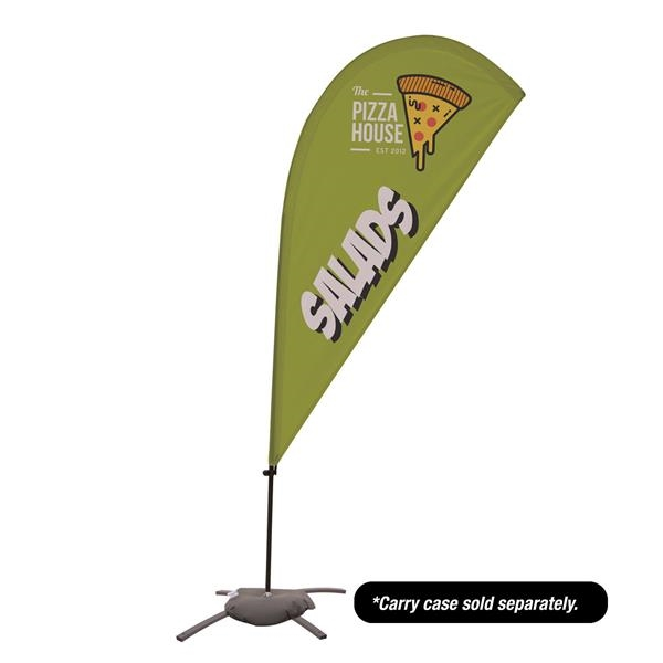 6.5' Value Teardrop Sail Sign - 1-Sided with Cross Base
