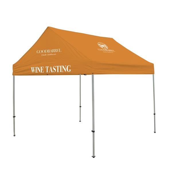 10' Gable Tent Kit (Full-Color Imprint, 3 Locations)
