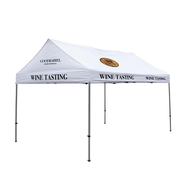 10' x 15' Gable Tent Kit (Full-Color Imprint, 5 Locations)