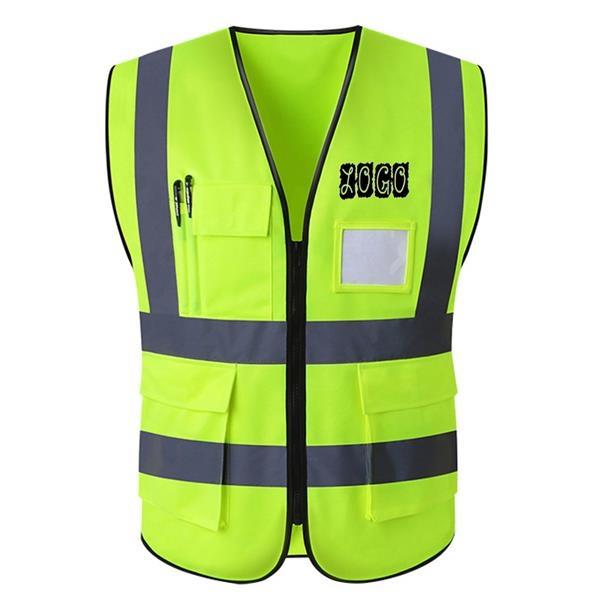 High Visibility Reflective Safety Vest w/ Multi Pockets