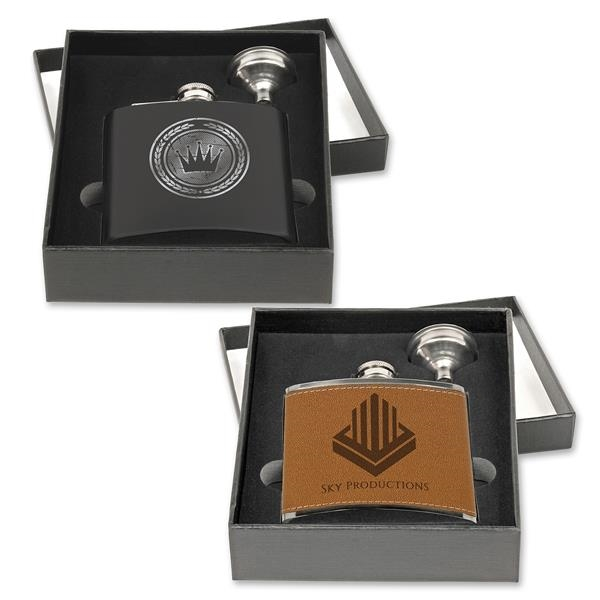 Stainless Steel Flask 2 pcs Gift Set