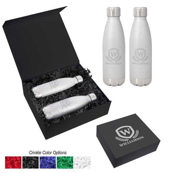 16 Oz. Iced Out Swiggy Stainless Steel Bottle Gift Set