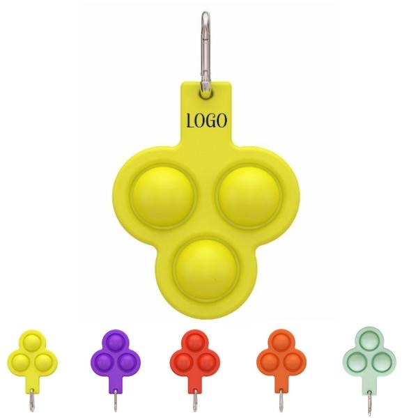 Bubble Sensory Fidget Toy, Stress Reliever Toy Keychain