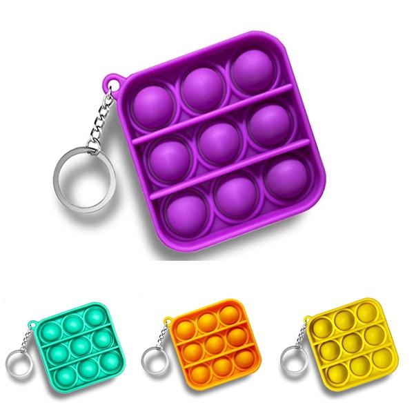 Square Bubble Sensory Fidget Toy Keychain