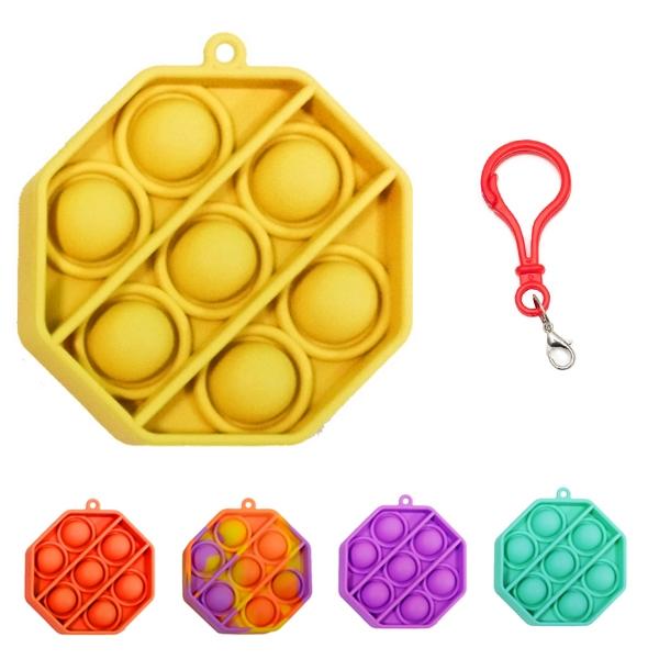 Octagon Bubble Sensory Fidget Toy Keychain