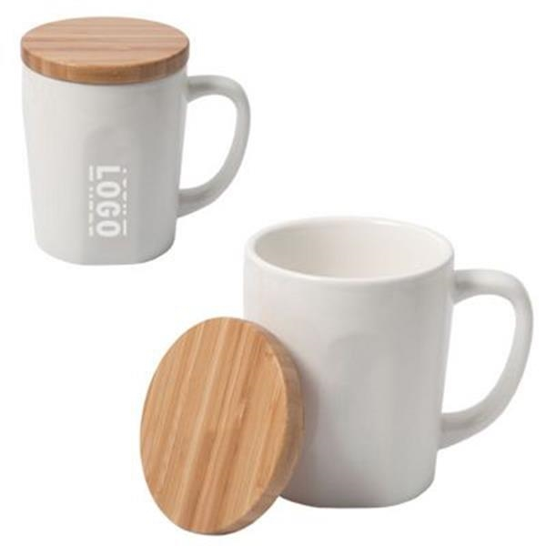 14 oz Bamboo Chic Mug With Bamboo Lid