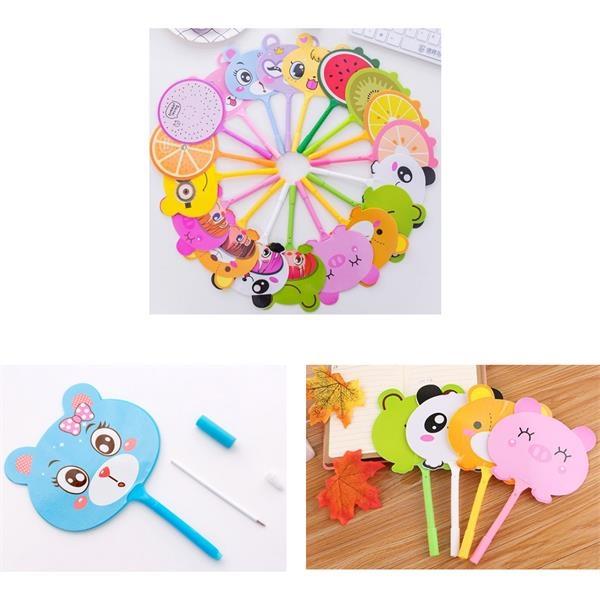 Custom Plastic Promotional Novelty Cute Fan Ball Pen