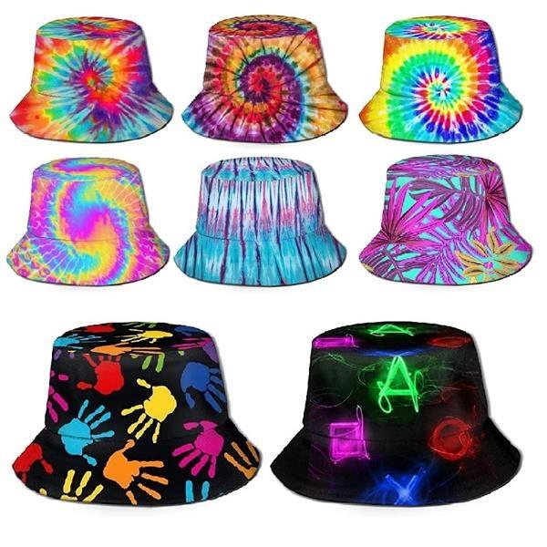 Unisex Print Double-Side Reversible Bucket Hat