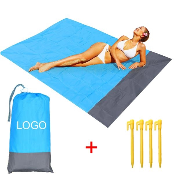 Waterproof Foldable Beach/Picnic Blanket with Pouch 55