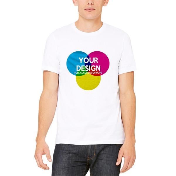 3-Piece Low Min Bella Canvas Full Color White Cotton T Shirt