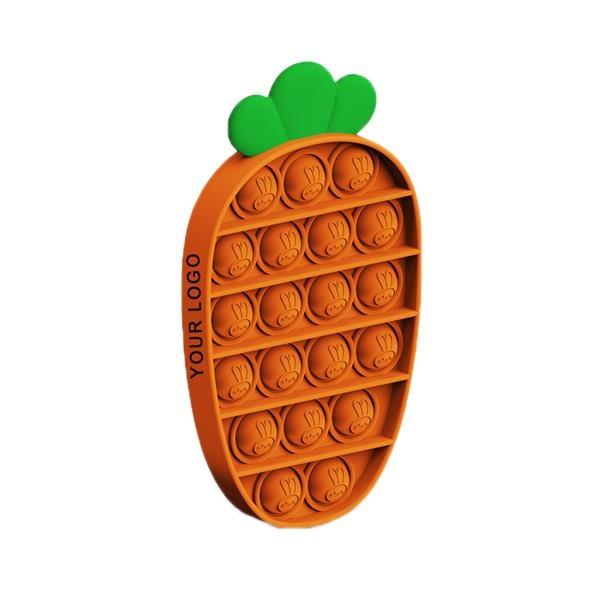 Carrot Shape Push Pop Buddle Fidget Toy