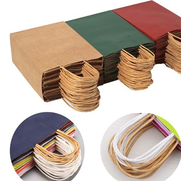Color Kraft Paper Shopping Bag (8 1/4
