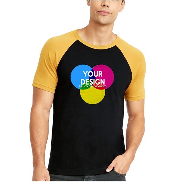 3-Piece Low Min Next Level Full Color 4.3 oz Raglan T Shirt