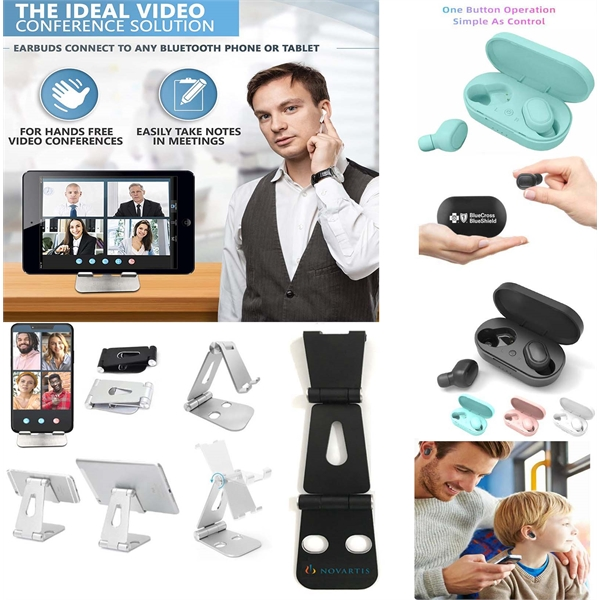 iBank® Bluetooth Earbuds Headphones + Aluminum Stand Cradle