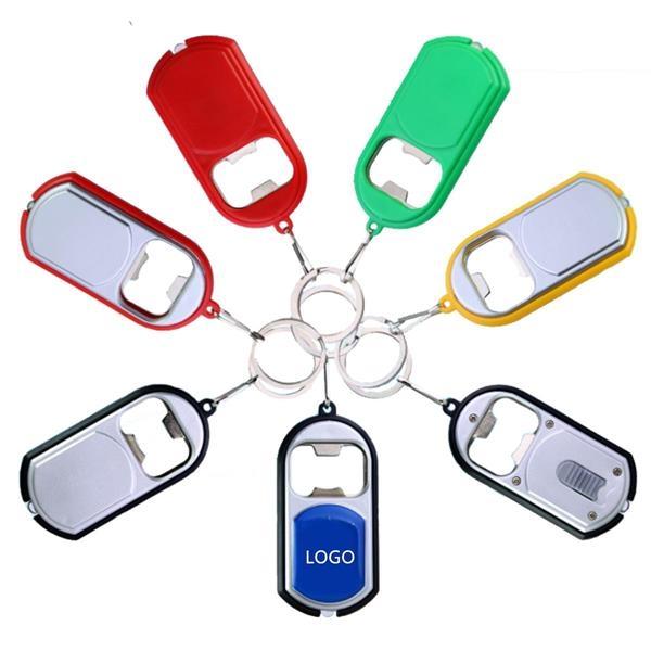 3 IN 1 Bottle Opener LED Keychain