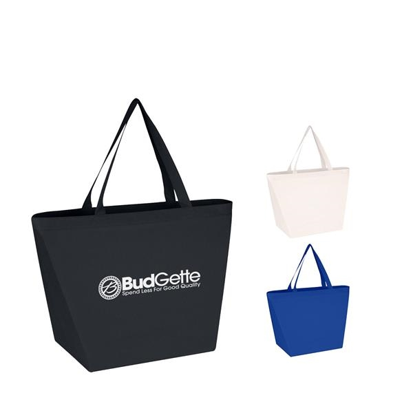 Non-Woven Shopper Tote Bag With Antimicrobial Additive