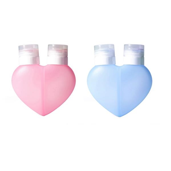 2 In 1 Heart Shape Toiletries Containers 200ml