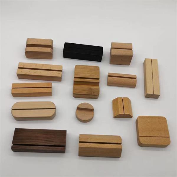 Wood Desk Business Card Holder