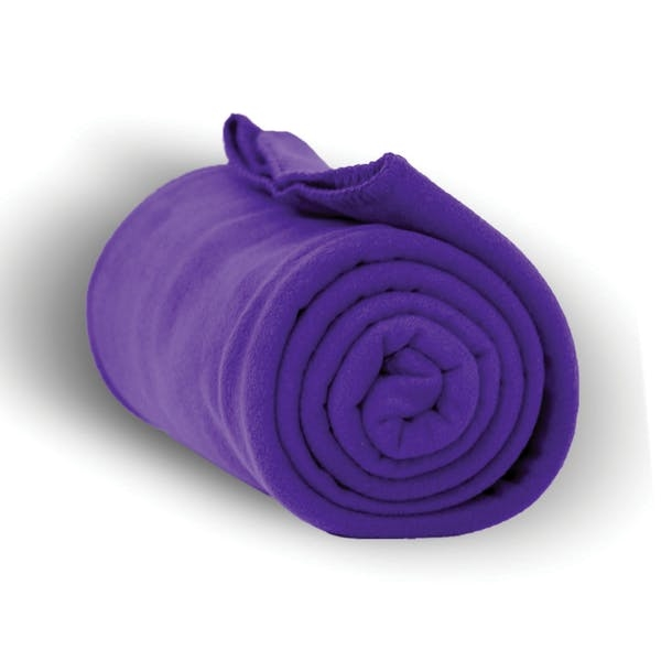 Heavy Weight Fleece Blanket Throw - 50 x 60-Purple