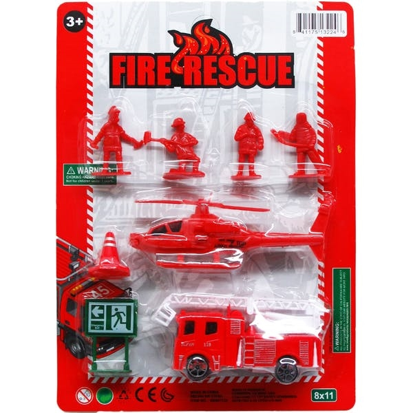 DDI 8 Piece Fire Rescue Play Set - Assorted