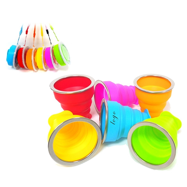 6Oz Collapsible Silicone Water Cup Travel Folding Cup Mug