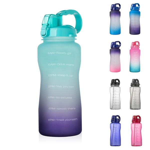 64OZ Large Water Bottle with Motivational Time Marker