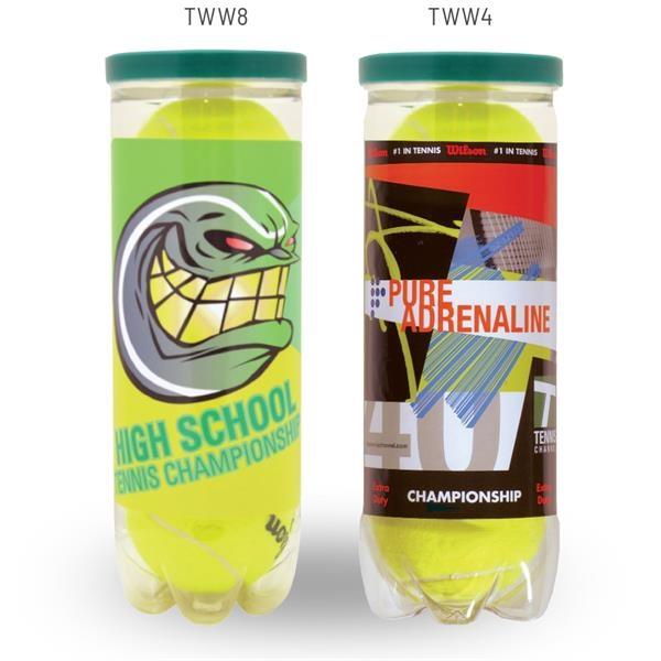 Wilson Championship Tennis Balls with Custom Can Wrap