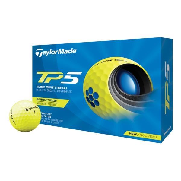TaylorMade 2021 TP5 Golf Balls - Yellow