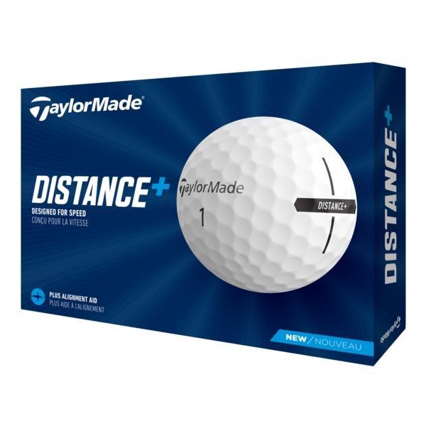 TaylorMade 2021 Distance+ Golf Balls - White