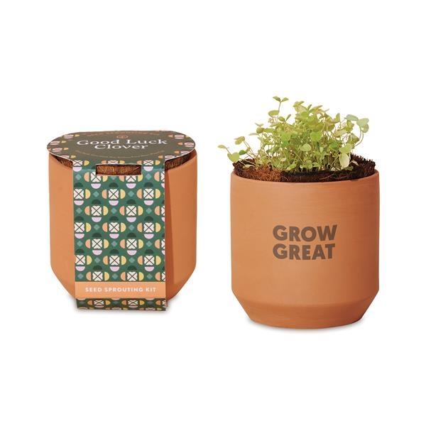 Modern Sprout® Tiny Terracotta Grow Kit Good Luck Clover