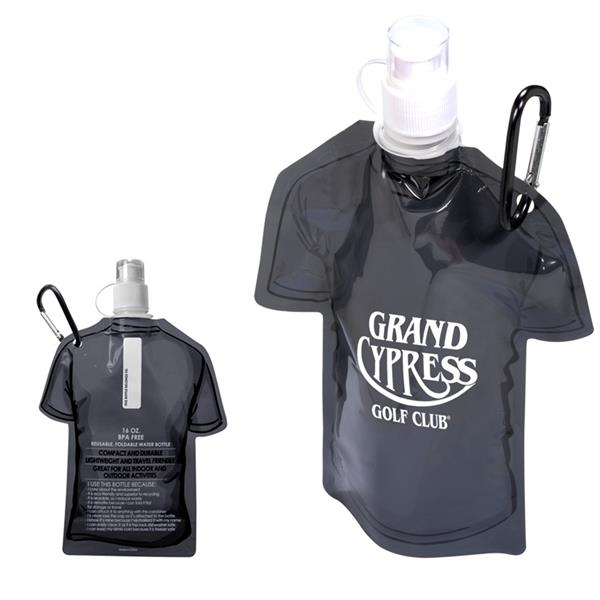 T-Shirt Shaped Collapsible 16 oz. Water Bottle