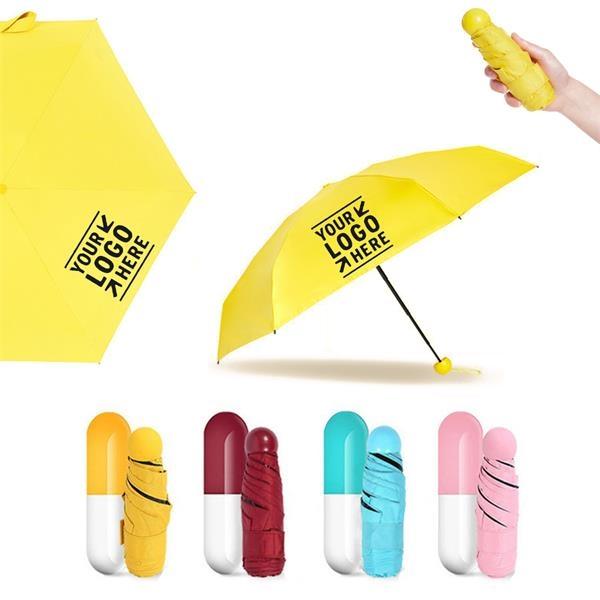 Mini Folding Capsule Umbrella MOQ 100