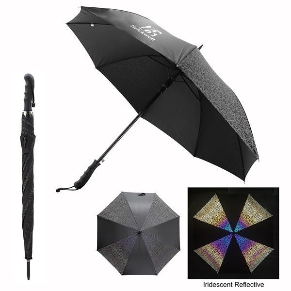 "46"" Arc Reflective Iridescence Umbrella"